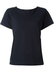 Zanone Boat Neck T Shirt Blue