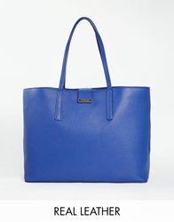 Whistles Leather Tote Bag Blue