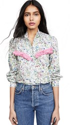 Michaela Buerger Floral Button Down Shirt Floral Multi