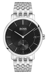 Boss Round Bracelet Watch 40Mm Black Silver