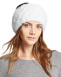 Maximilian Furs Knit Mink Fur Headband Bloomingdale's Exclusive White