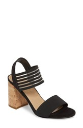 Bella Vita Dan Block Heel Sandal Black Leather