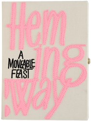 Olympia Le Tan The Webster X The Ritz 'A Moveable Feast' Clutch Nude And Neutrals