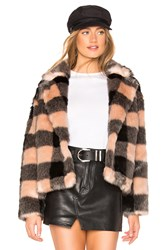 Heartloom Aria Faux Fur Coat Pink