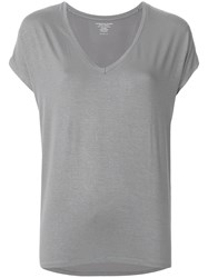 Majestic Filatures V Neck T Shirt Metallic