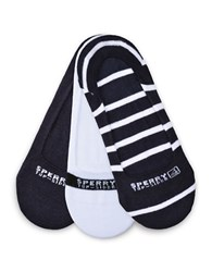 Sperry Striped Shoe Liners Navy White