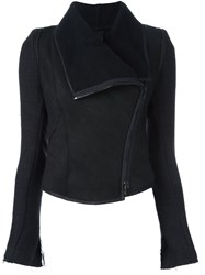 Isabel Benenato Fitted Zipped Jacket Black