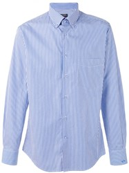 Paul And Shark Striped Shirt Blue