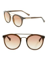 Vince Camuto 51Mm Round Sunglasses Brown