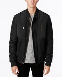 William Rast Men's Benton Bomber Jacket Black
