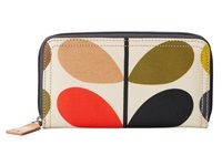 Orla Kiely Matt Laminated Classic Multi Stem Big Zip Wallet Multi Wallet Handbags