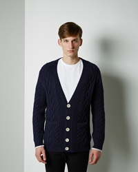 Band Of Outsiders Cable Knit Cardigan Navy