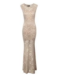 Jane Norman Lace Maxi Dress Nude