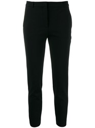 Pinko Slim Fit Cropped Trousers Black