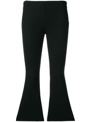 Dusan Cropped Flared Trousers Black