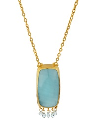 Gurhan Aquamarine Cabochon Pendant Necklace