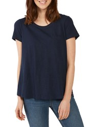 cd4bbf424a2d2 Fat Face Faye Fleur Geo Lace T Shirt Navy
