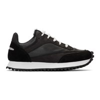 Spalwart Black Nappa Tempo Low Sneakers