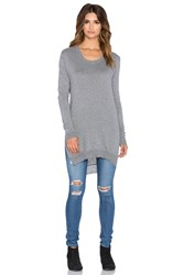Bobi Cowl Back Sweater Gray