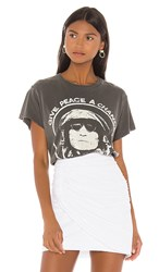 Madeworn John Lennon Give Peace A Chance Tee In Black. Black Pigment