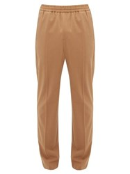 Joseph Ettrick Elasticated Waist Tapered Twill Trousers Camel