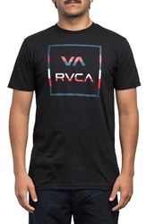 Rvca Men's Stringer All The Way Graphic T Shirt Black