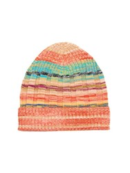 Missoni Striped Ribbed Knit Beanie Hat