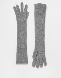 Whistles Long Gloves Grey