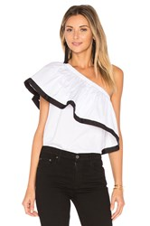 Milly One Shoulder Top White