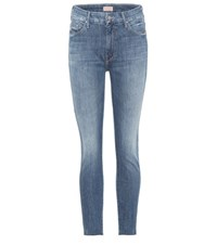 Mother Looker Ankle High Rise Jeans Blue