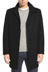 Nordstrom Wool Blend Car Coat Black