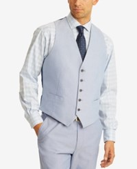 Tommy Hilfiger Men's Modern Fit Thflex Stretch Blue Chambray Suit Vest
