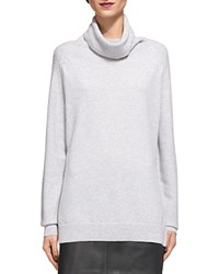 Whistles Cashmere Cowlneck Sweater Gray Marl