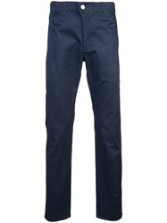 Julien David Straight Leg Trousers Blue