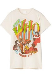 Madeworn The Who Distressed Printed Cotton Jersey T Shirt White