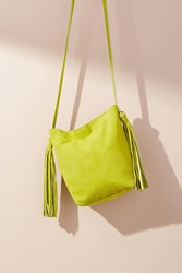 Monserat De Lucca Asakapae Tasseled Crossbody Bag Lime
