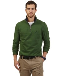 Nautica Big And Tall Quarter Zip Front Fleece Hunter Green