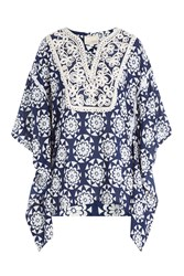 Gooshwa Embroidered Caftan Blue