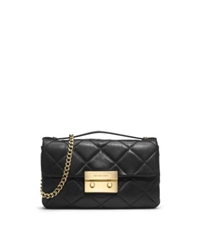 Michael Kors Sloan Quilted Leather Small Messenger Black