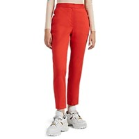 Rag And Bone Poppy Linen Blend Tapered Trousers Red