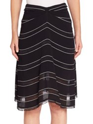 Proenza Schouler Gathered Striped Skirt Black White Stripe