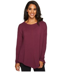 Lucy Pure Light Pullover Grape Wine Women's Long Sleeve Pullover Purple