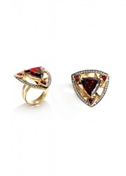 Ara Vartanian Garnet And Diamonds Ring