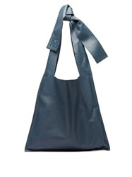 Loewe Bow Oversized Nappa Leather Tote Bag Blue
