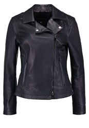 Oakwood Leather Jacket Dark Blue