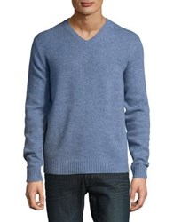 Black Brown V Neck Lambswool Sweater Quarry