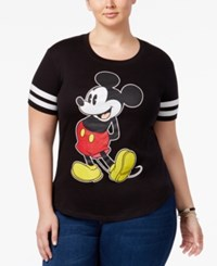 Hybrid Trendy Plus Size Mickey Graphic T Shirt Oxford