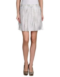 Au Jour Le Jour Mini Skirts Light Grey