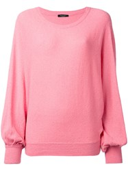 Roberto Collina Billowing Sleeve Jumper Women Cotton Polyamide S Pink Purple