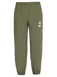 Off White Logo Technical Track Pants Green